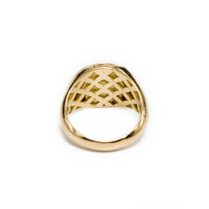 Parapluie diamond signet ring