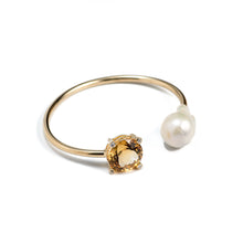 Load image into Gallery viewer, Citrine&Pearl Armcuff