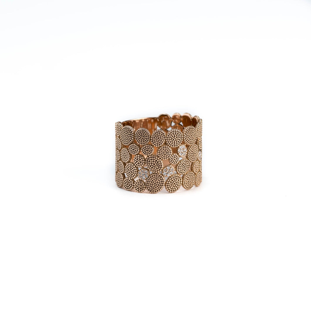 Sea Urchin & Diamonds Ring