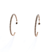 Load image into Gallery viewer, Large hoop diamond earrings