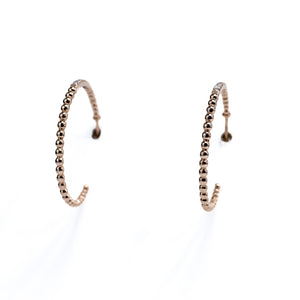 Large hoop diamond earrings