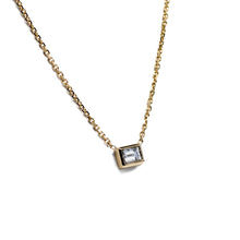 Load image into Gallery viewer, Fine Baguette Diamond Necklace