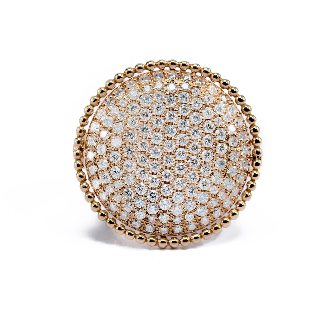 Diamond Pavé Ring 18K Gold