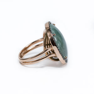 "18K Rosegold  ""Malachite"" Ring"