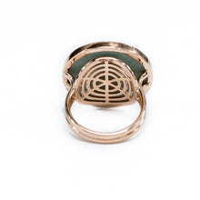 "Load image into Gallery viewer, 18K Rosegold  ""Malachite"" Ring"