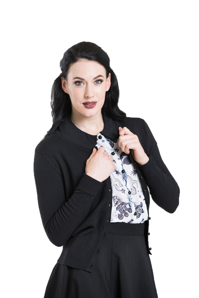 Black rockabilly cardigan
