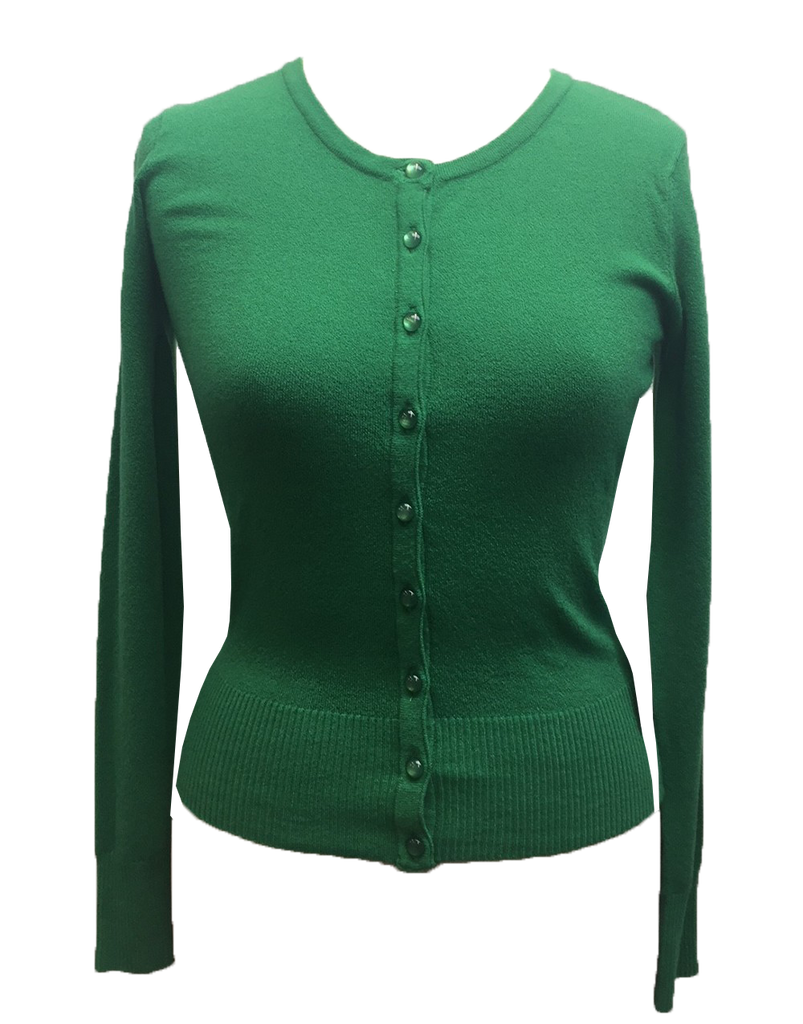 retro cardigan green