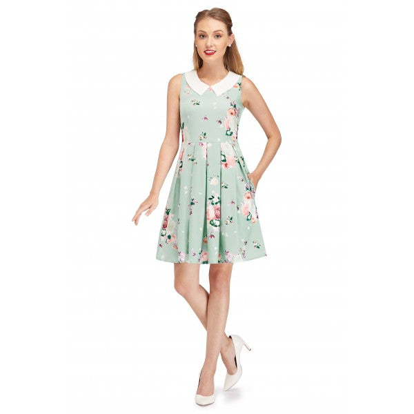 retro tea dress