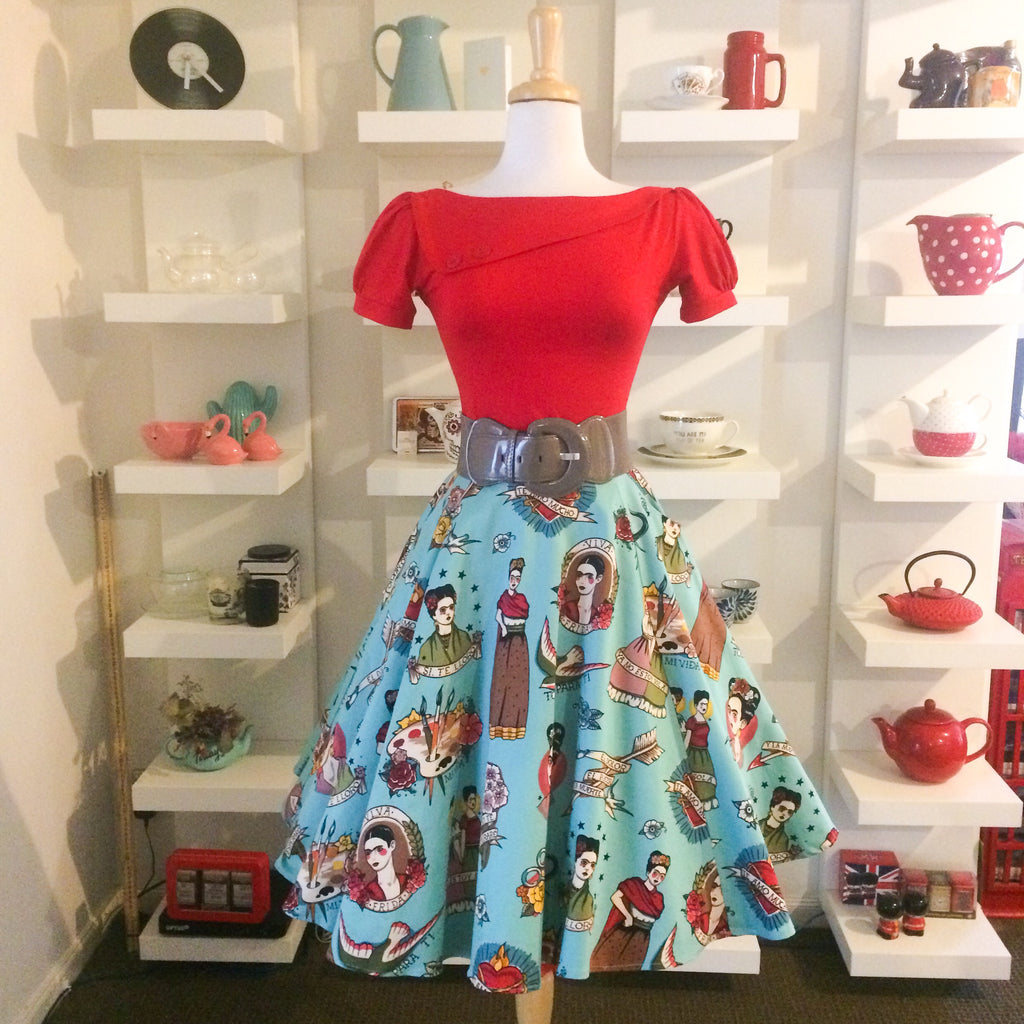 Love, Frida Skirt Turquoise