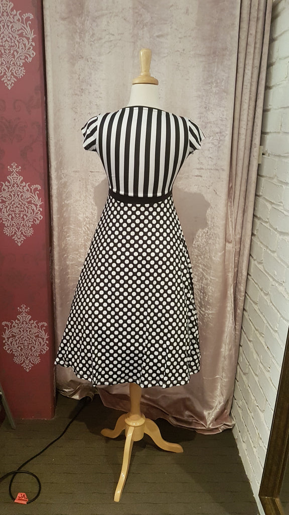 Monochrome Tea Dress