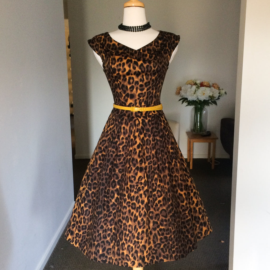 Rockabilly Leopard Print Dress
