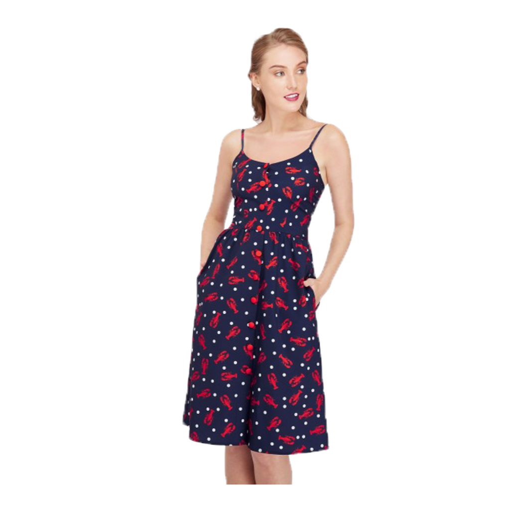lobster print summer dress