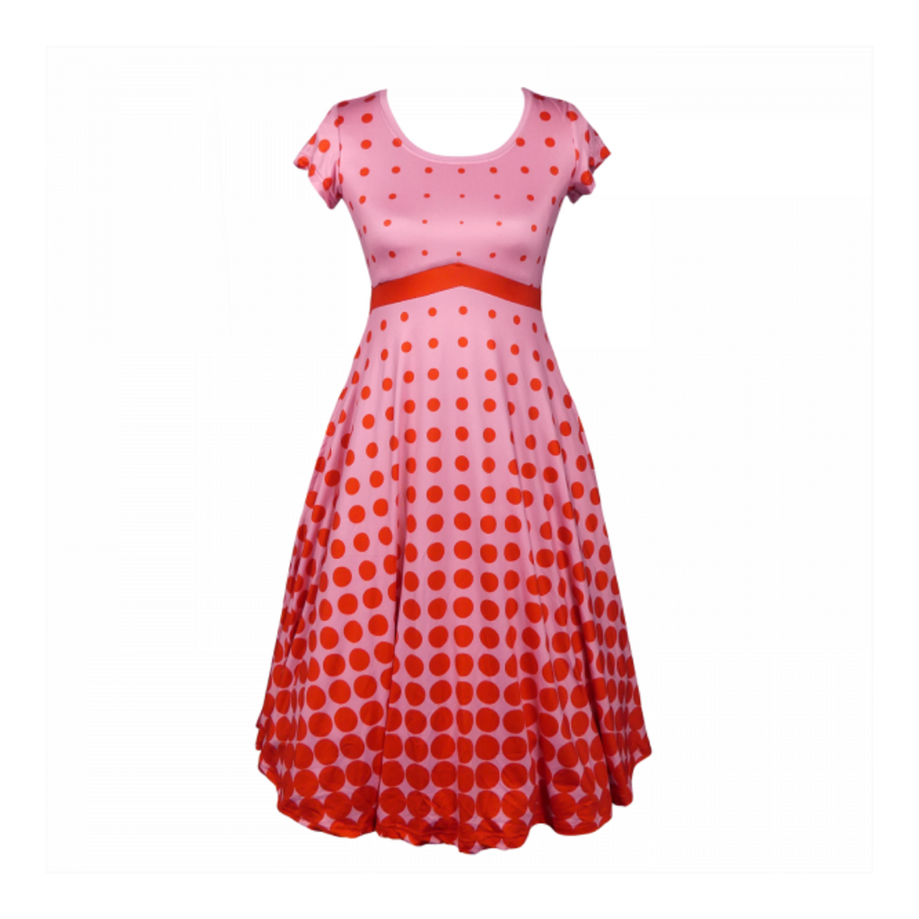 retro style tea dress
