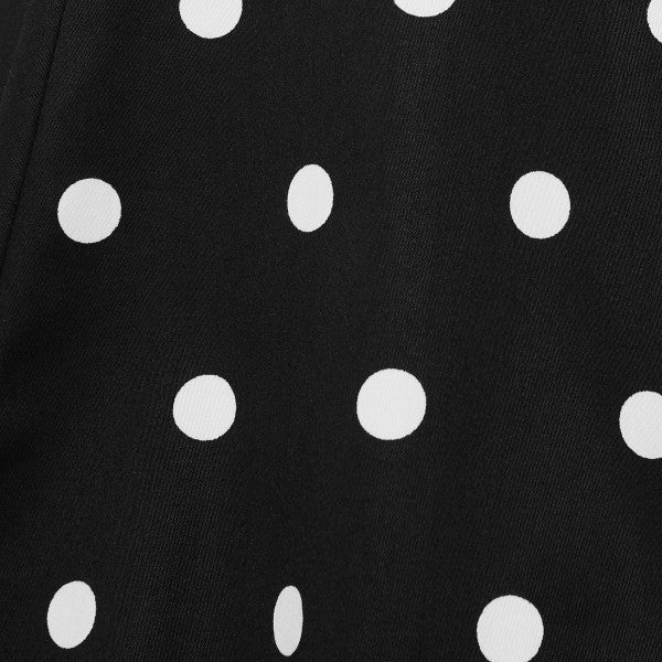 black and white polka dot fabric
