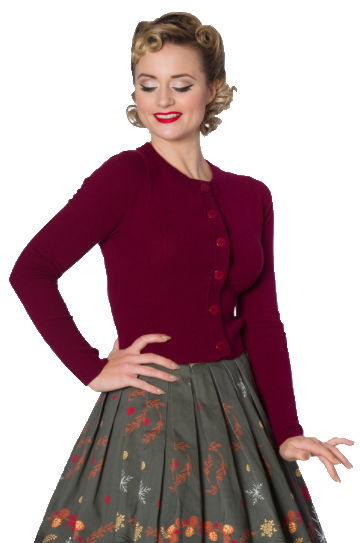 Dolly Cardigan Burgundy