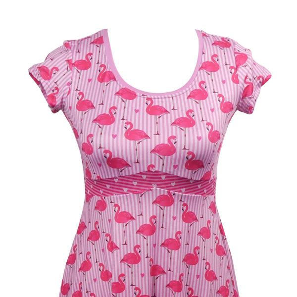 retro flamingo dress