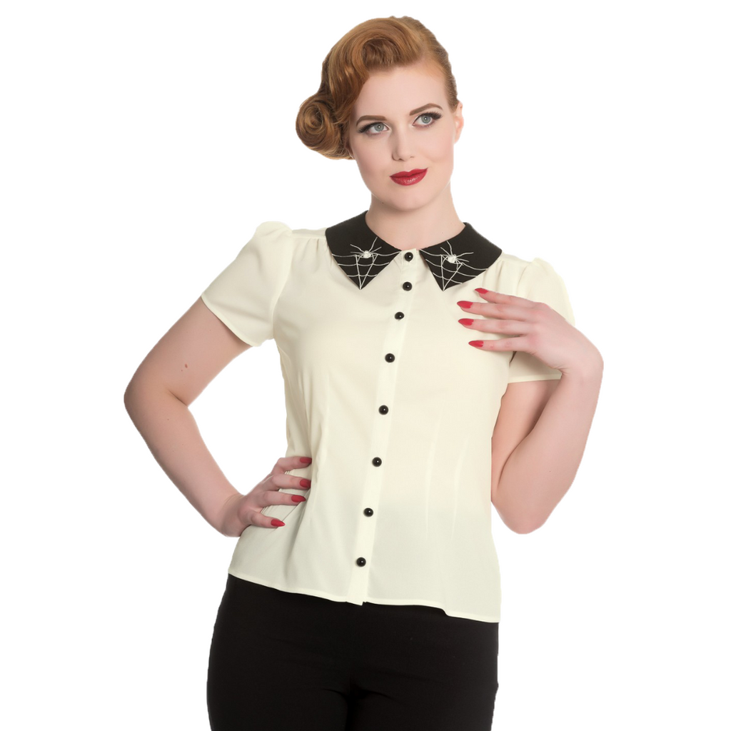 Incy Wincy Spider Blouse Cream