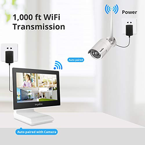 4CH 1080P Wireless Camera System Build-in 10.1