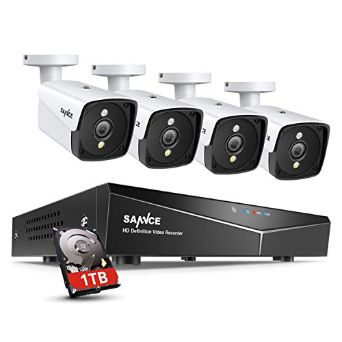 4 Camera 4 Channel 5MP PoE NVR CCTV Security System with 1 TB HDD