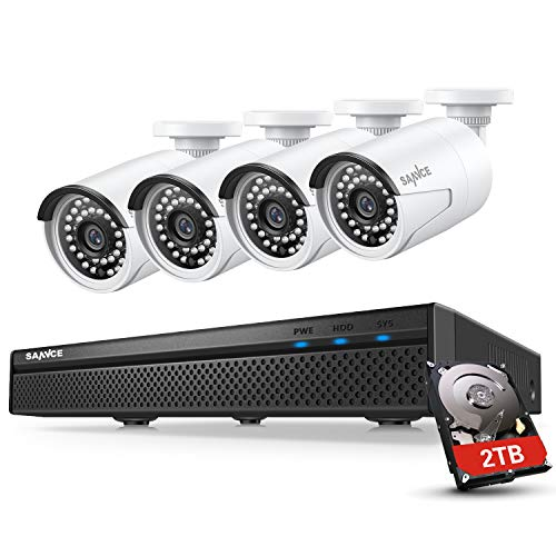 8 Channel 4 Cameras 5MP PoE NVR CCTV Security System with 2TB HDD