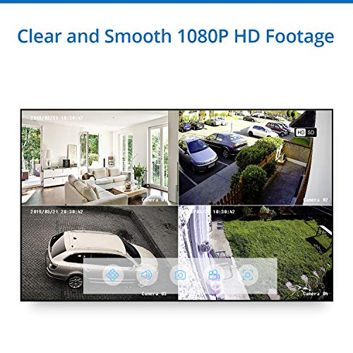 8CH DVR Security System with 1080P Weatherproof Camera