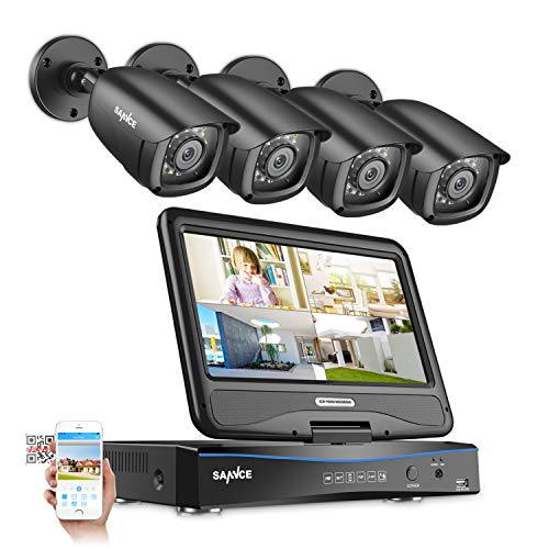 4CH 1080N Security Camera System with 10.1-inch LCD Screen Monitor