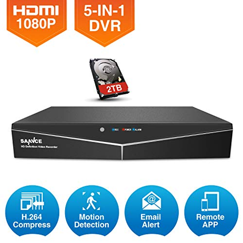 16+1 Channel 1080N CCTV 5-in-1 DVR