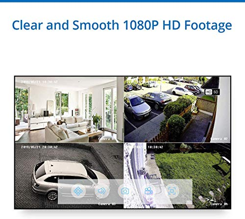 4CH DVR Security System with 1080P Outdoor Camera