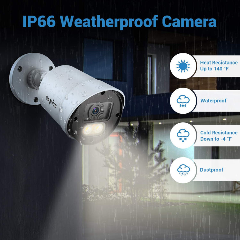 1080P Security System with  3500K Warm LED Spotlight Cam