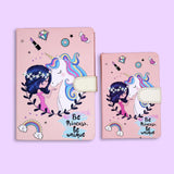 Unicorn Theme Journal Notebook Be Princes Be Unique - thestationerycompany.pk