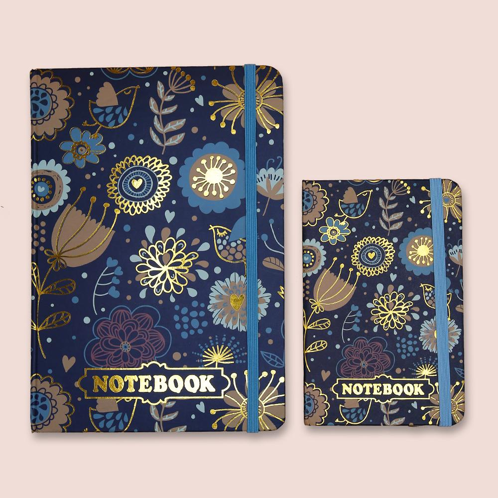 Floral Doodles Gold Foil Journals Notebook Green - thestationerycompany.pk