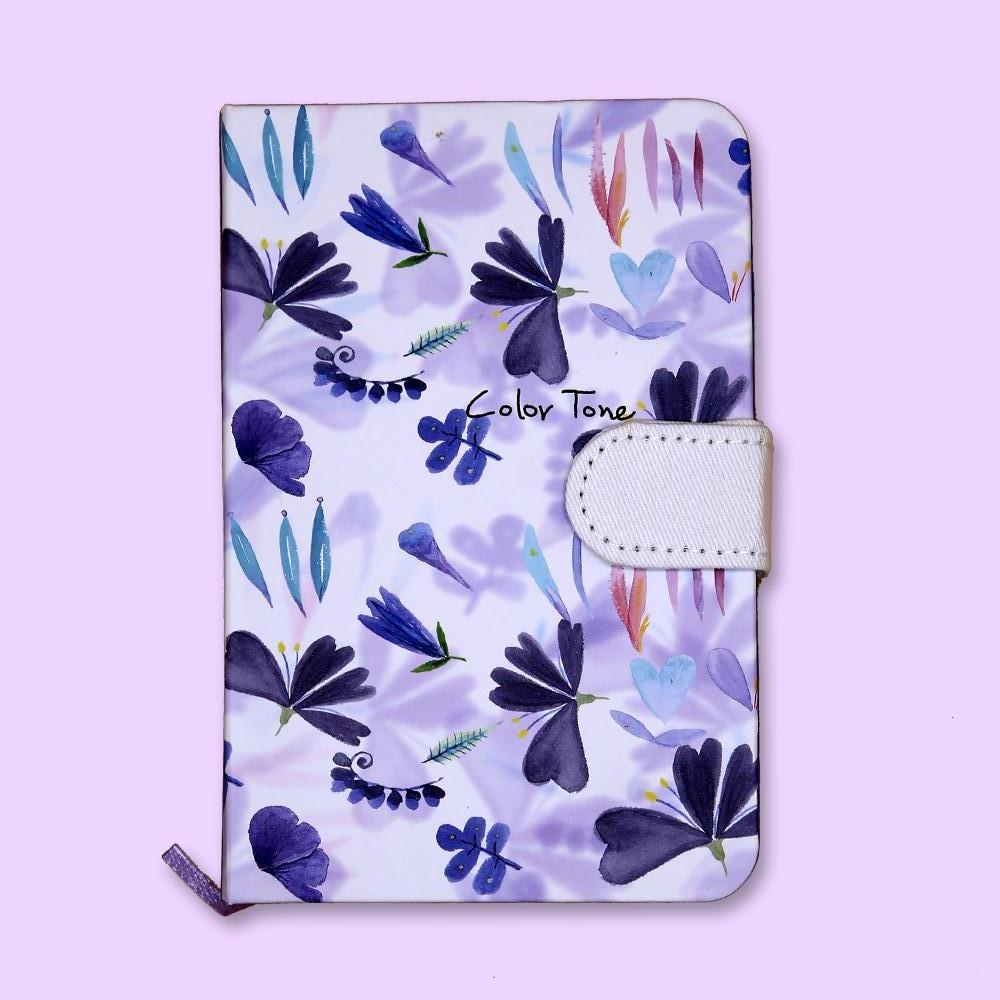 Color Tone Floral Journal Notebook Purple - thestationerycompany.pk