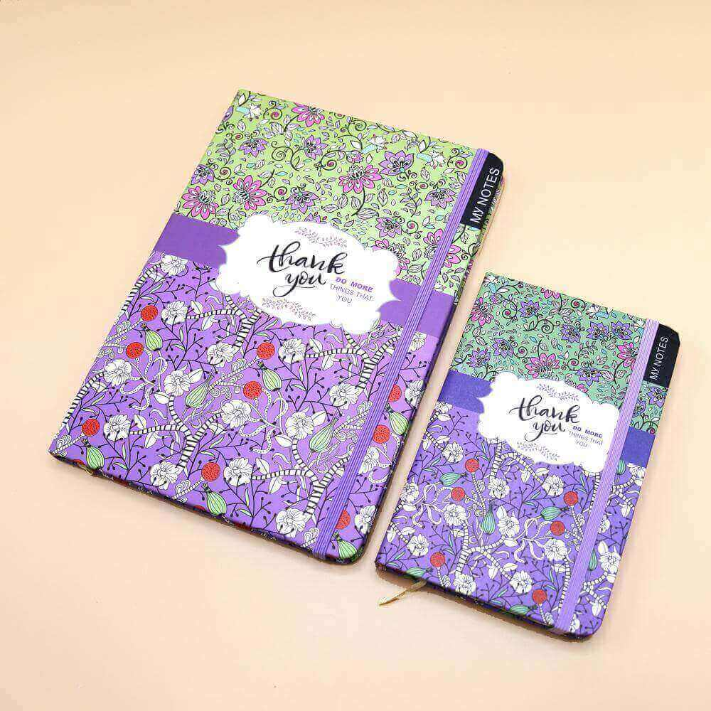 Thank You Journal Notebook Purple