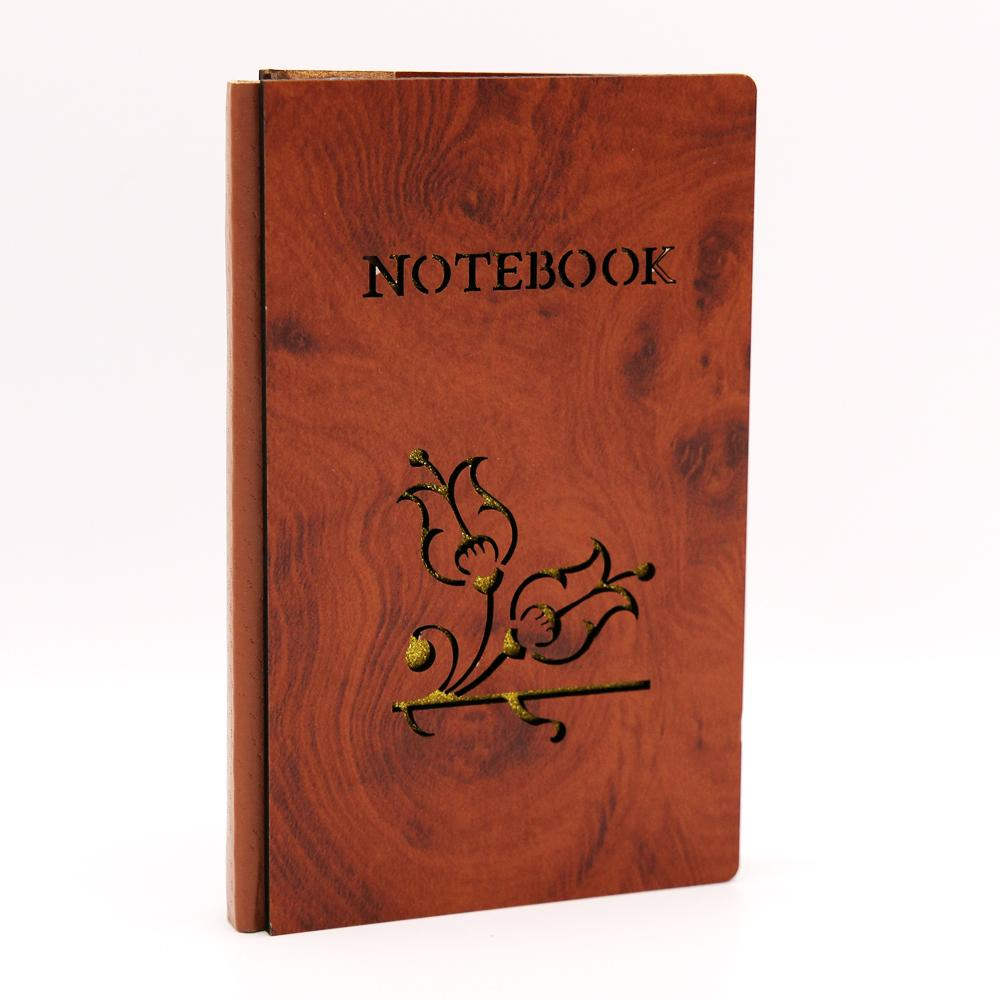 Wooden Journal Notebook Walnut Shade XS - thestationerycompany.pk
