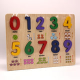 Wooden Number Puzzle Educational Toys - thestationerycompany.pk