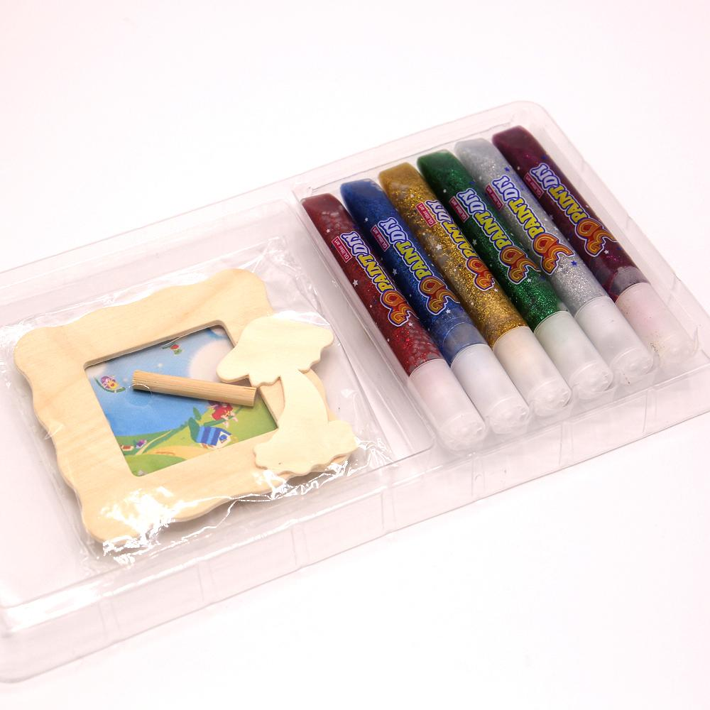3D Art Paint Photo Frame With Glitter Glue For kids - thestationerycompany.pk