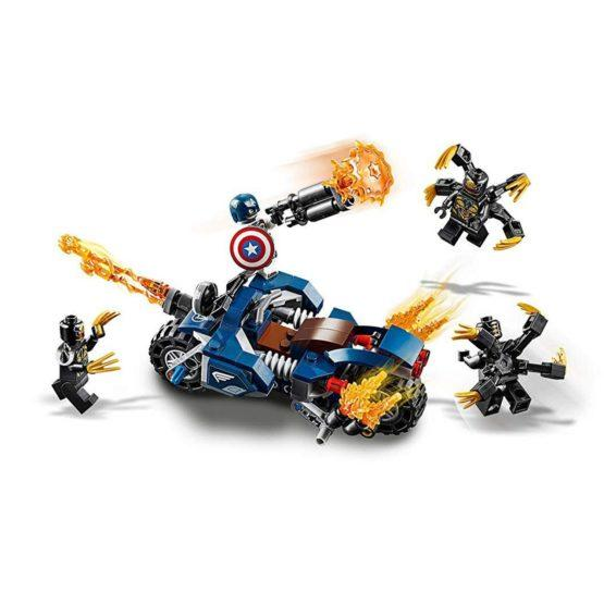 LEPIN Super Heroes Captain America Outriders Attack - thestationerycompany.pk