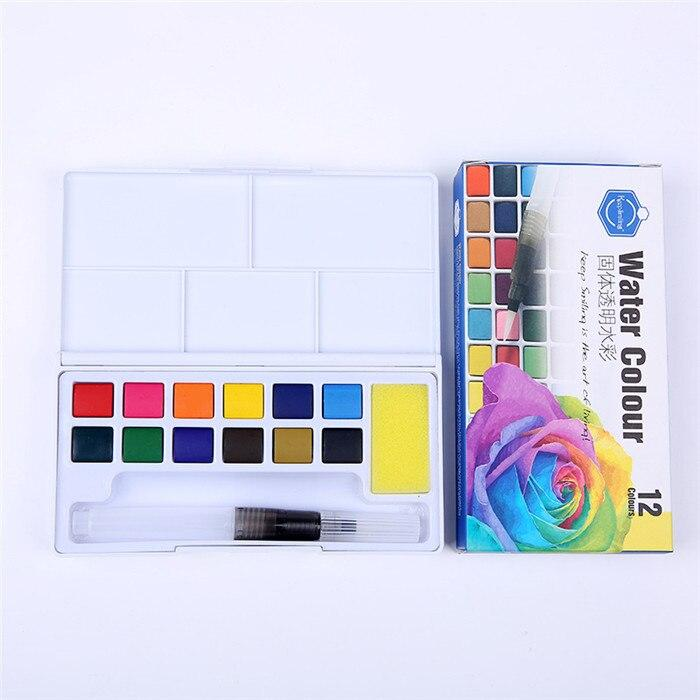 Keep Smiling Aquarelle Watercolor with Palette 12-18-24 - thestationerycompany.pk