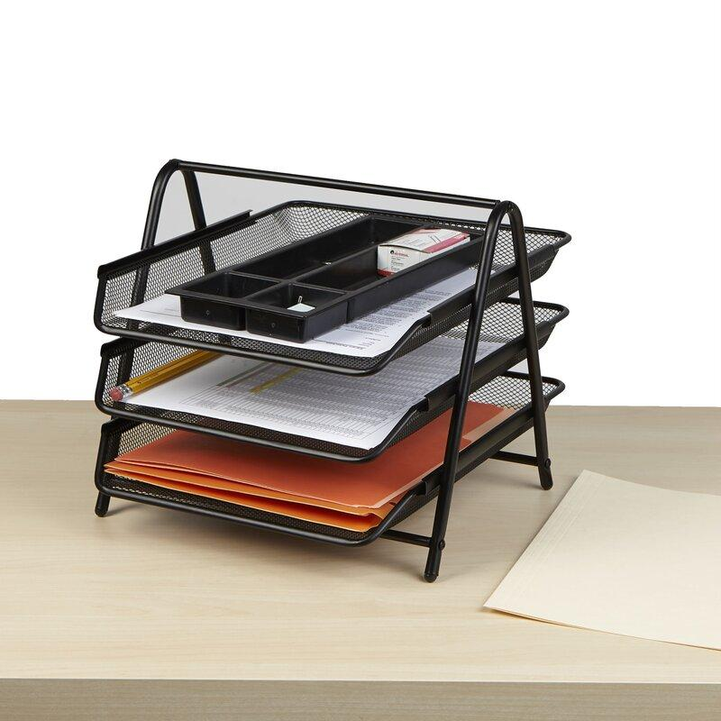 Mesh Office Paper File Tray 3 Step - thestationerycompany.pk