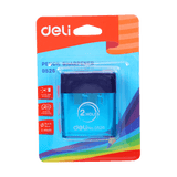 Deli 2 Hole Sharpener With Container E0526 - thestationerycompany.pk