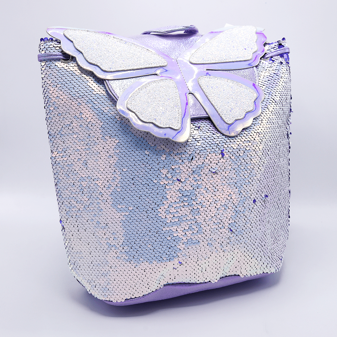 Butterfly Dream Glitter Bags For Girls Purple - thestationerycompany.pk