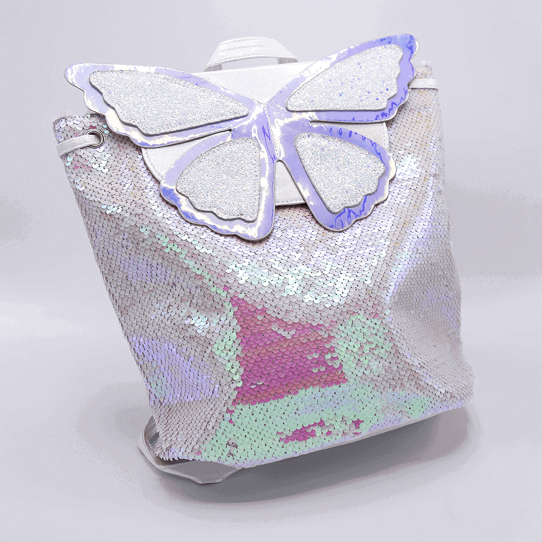 Butterfly Dream Glitter Bags For Girls Pink