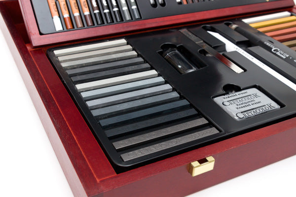 Cretacolor Selection Wooden Case Professional Drawing Set - thestationerycompany.pk