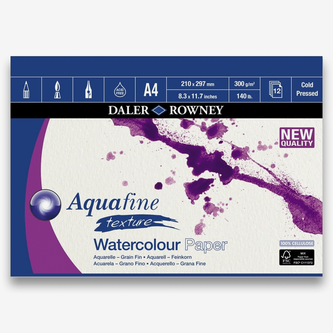 Daler Rowney Aquafine Watercolor Paper Pads