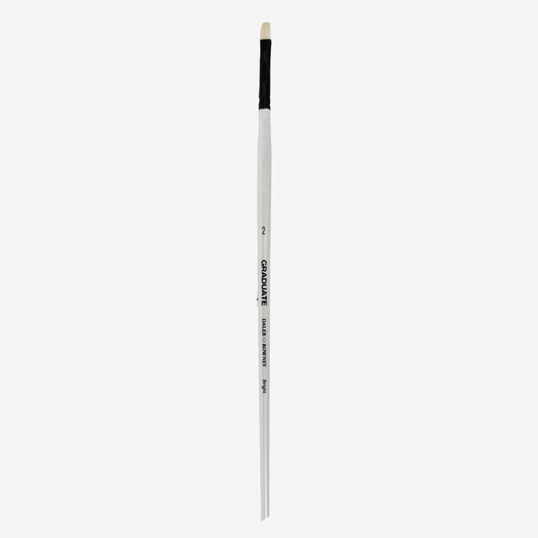 Daler Rowney Graduate Long Handle Bristle Bright Brushes - thestationerycompany.pk