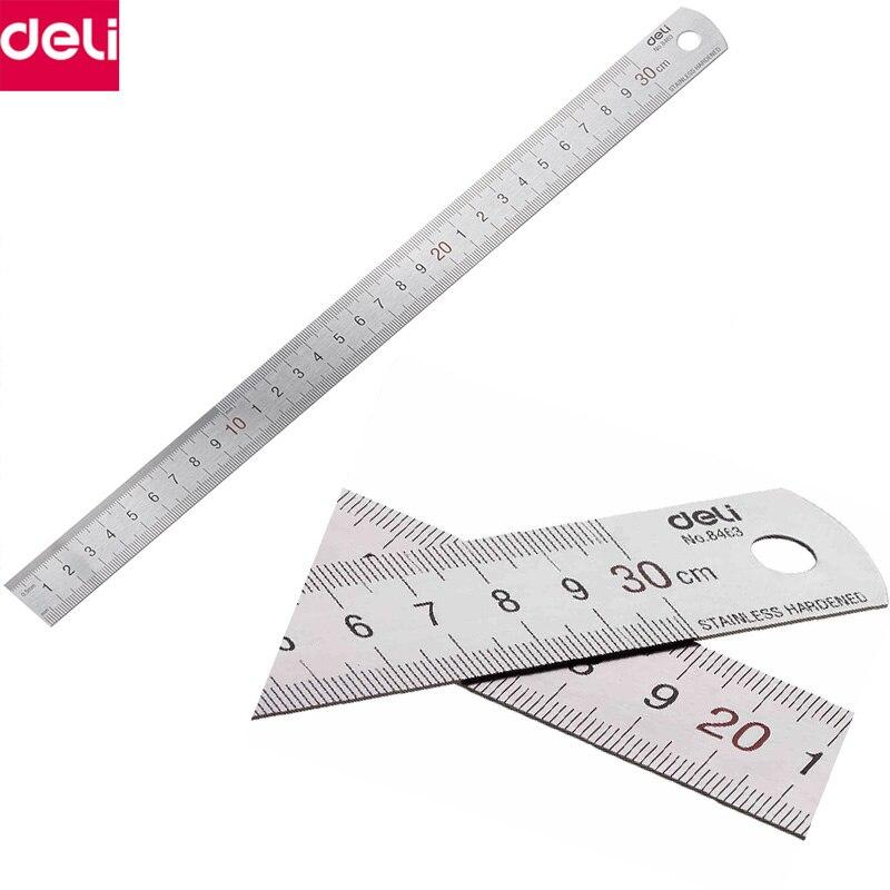 Metal Ruler DELI E8464 50cm-Stainless Steel Material - thestationerycompany.pk