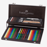 Faber Castell Art & Graphic Compendium Wooden Case Set Of 53 Pieces