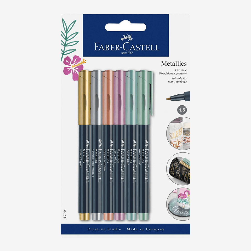 Faber Castell Metallic Color Marker Set Of 6 Pieces