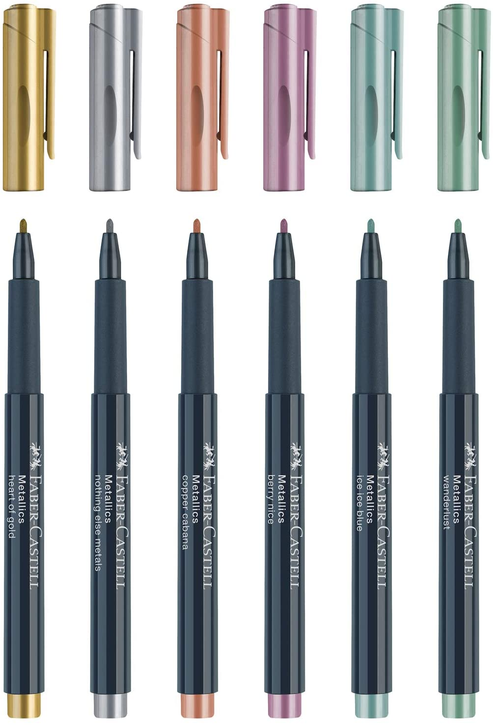Faber Castell Metallic Color Marker Set Of 6 Pieces - thestationerycompany.pk