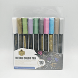 Keep Smiling Metallic Color Pen Pack Of 10